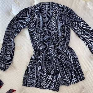 Small patterned romper